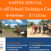 To celebrate Easter, we'd like to offer 30% off the school holidays Camp fr