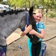 First time plaiting for Olivia Julie McIntosh.  TT Midnight is ready to compete