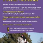 Great opportunity for Tic Toc riders:  You are invited to a Free Seminar this co