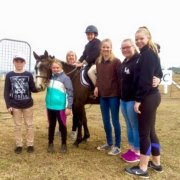 TT Eagle, Ella and the cheering team after two beautiful clear round on the 45 a