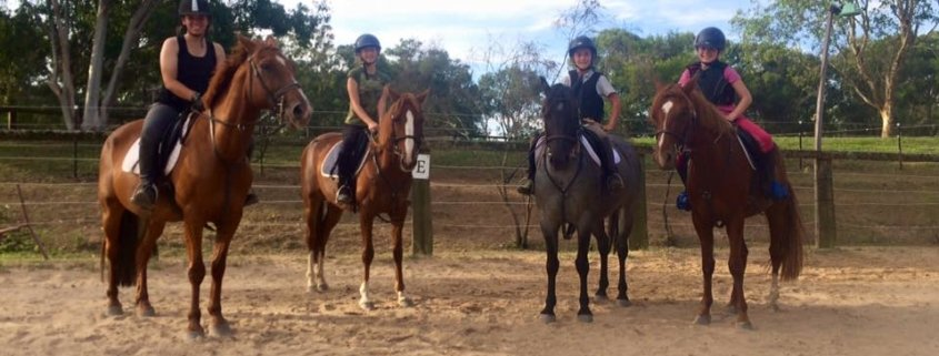 The Wednesday jumping team: 4 hard working ladies!