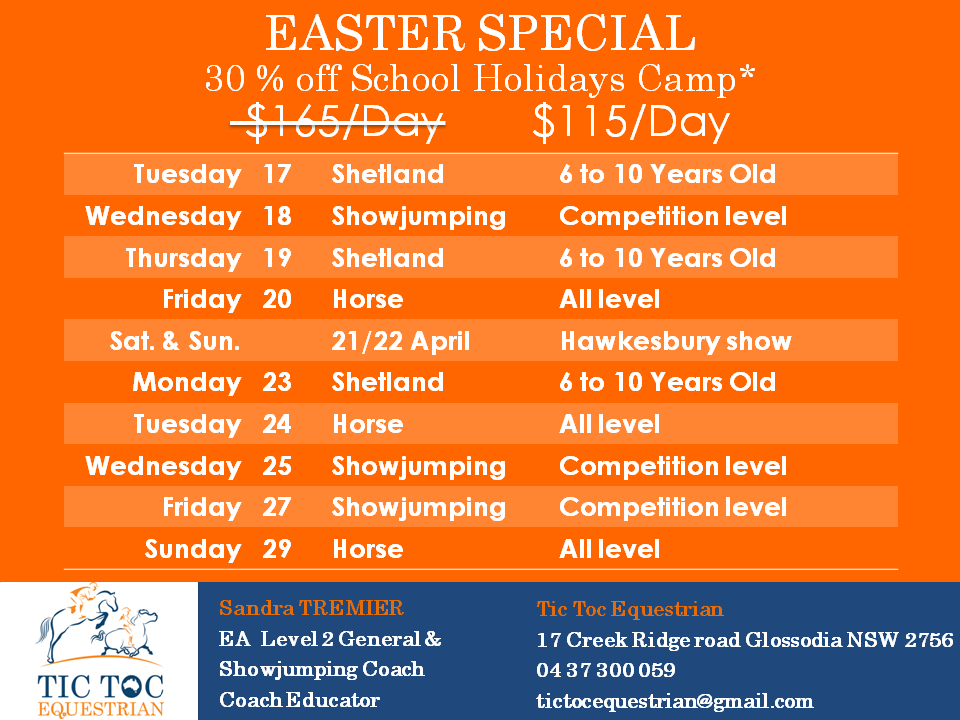 To celebrate Easter, we'd like to offer 30% off the school holidays Camp fr - To celebrate Easter we039d like to offer 30 off image