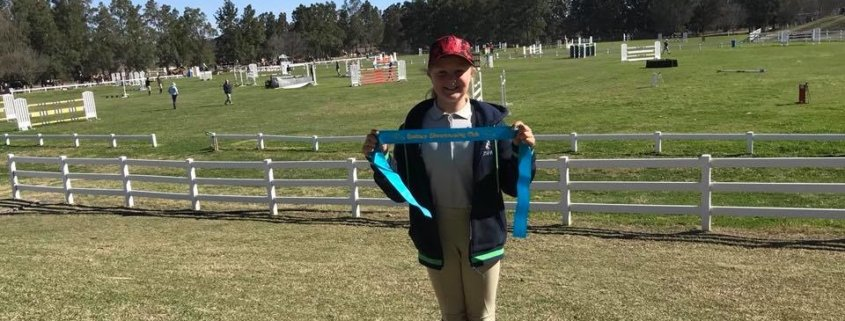 What a beautiful day at the SSJC comp day: Hamish placed 5th in the 90 Cm Oliv