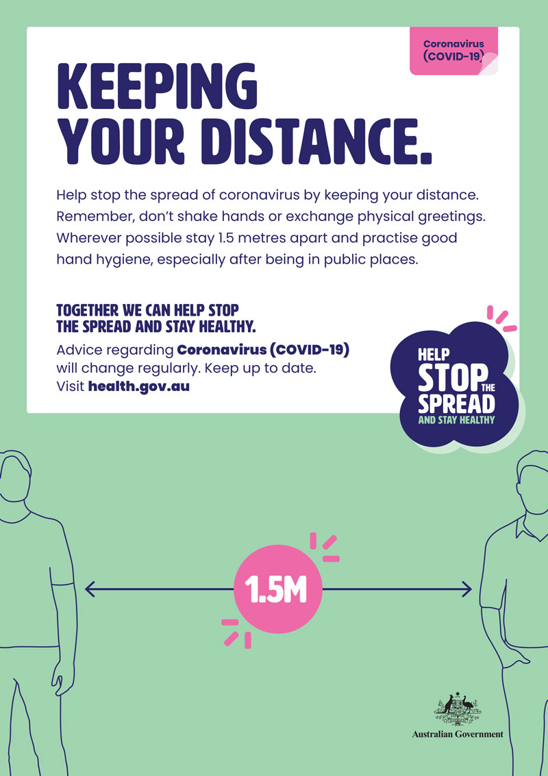 Health & Safety Action Plan - coronavirus covid 19 keeping your distance image