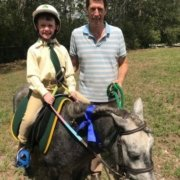 Flash news! Christian and TT Genie attended their first Gymkana at Kurrajong Pon
