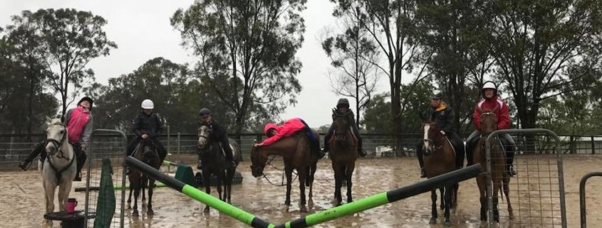 It was very wet today... and we were probably the only riders in the Hawkesbury