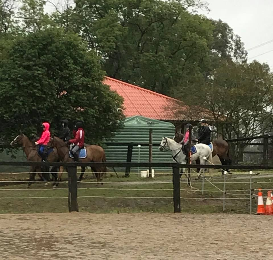 It was very wet today... and we were probably the only riders in the Hawkesbury 3