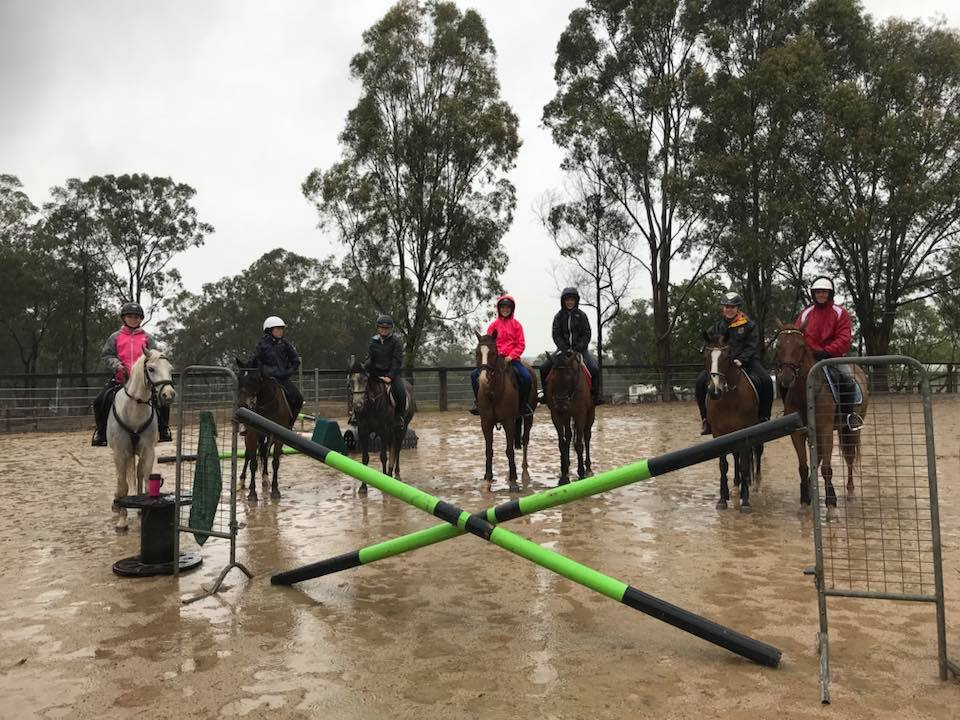 It was very wet today... and we were probably the only riders in the Hawkesbury 2