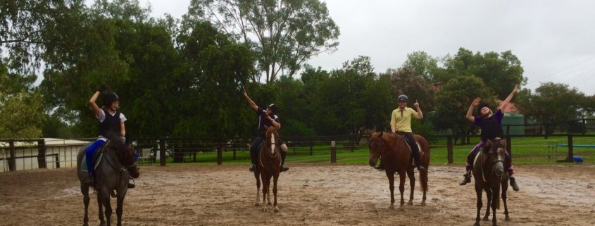 No rain at Tic Toc today, or almost!  Lessons went as usual on our beautiful all