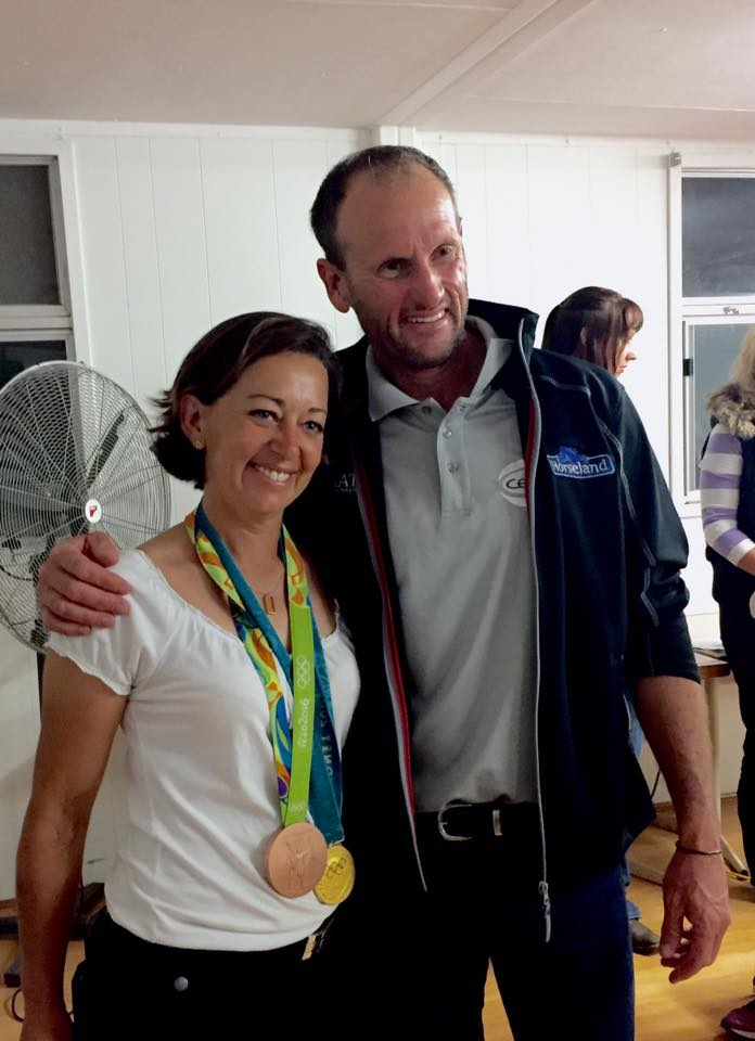 Nothing like Olympic Gold and Bronze medals in your hand! Stuart Tinney, Eventing 4