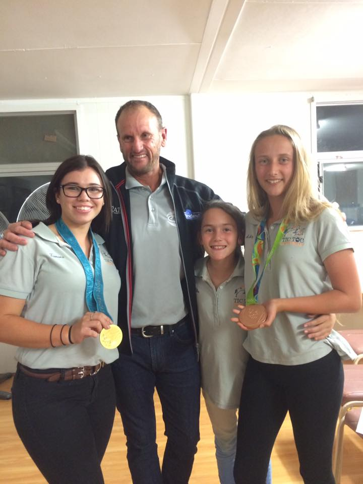 Nothing like Olympic Gold and Bronze medals in your hand! Stuart Tinney, Eventing 2
