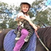 Rock wants to be a rider and is loving it!!! Thank you Annabelle for sharing you