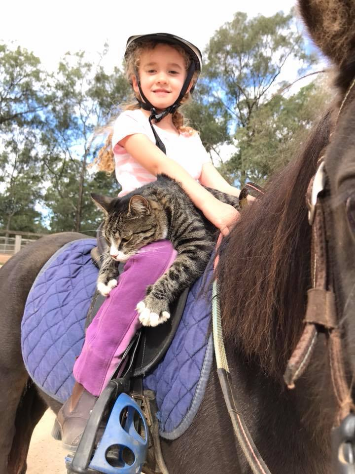 Rock wants to be a rider and is loving it!!! 1