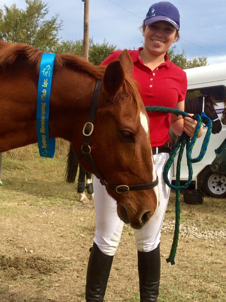 So proud of Tamara and TT Pluto, winning their Showjumping class today at SSJC. 2