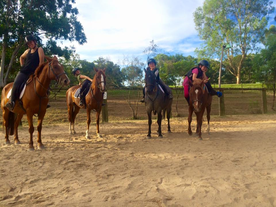 The Wednesday jumping team: 4 hard working ladies! 2