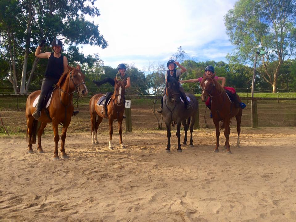 The Wednesday jumping team: 4 hard working ladies! 1