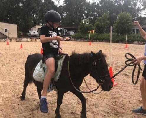 Egg & Spoon race on a pony