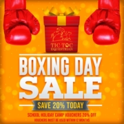 *BOXING DAY SALE*   Save 20% on School Holiday Camp vouchers, vouchers valid for